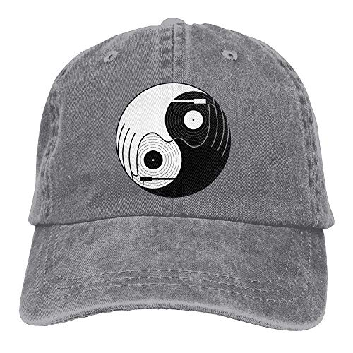 Zhgrong Caps Tai Chi Dj Music Vintage Washed Dyed Cotton Twill Low Profile Adjustable Baseball Cap Black Fitted Kappen - Pro Style Cotton Twill Cap