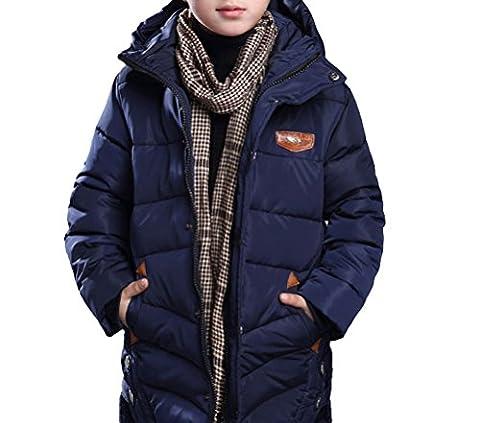 MILEEO Jungen Mantel Jacket Parka Kinder Jungen Mantel Winter Baumwolle Kindermantel Langarm Outwear Wintermantel mit Kapuze Winterjacke Steppjcake Coat