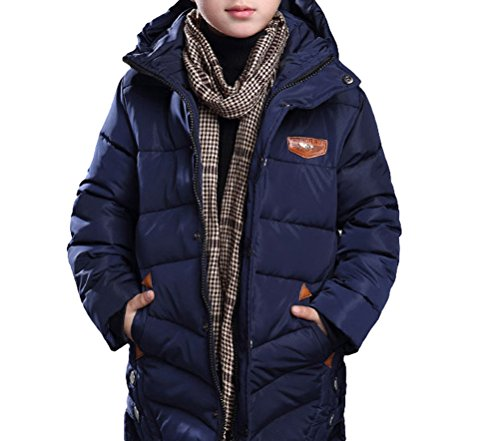 MILEEO Jungen Mantel Jacket Parka Kinder Jungen Mantel Winter Baumwolle Kindermantel Langarm Outwear Wintermantel mit Kapuze Winterjacke Steppjcake Coat, ,