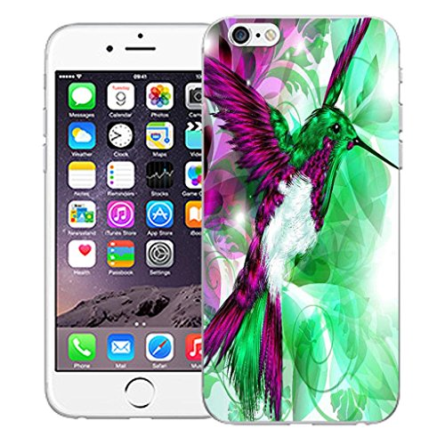 """Nouveau iPhone 6 4.7"""" inch clip on Dur Coque couverture case cover Pare-chocs - I love you rouge Motif avec Stylet humingbird green"""