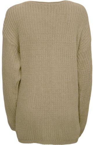 WearAll - Cardigan tricoté ouvert avec les poches et les manches longues - Cardigans - Femmes - Tailles 36 à 42 Crème