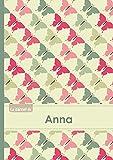 Le carnet d'Anna - Lignes, 96p, A5 - Papillons Vintage