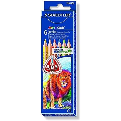 Staedler 128NC6 - Caja con 6 lápices de jumbo, multicolor
