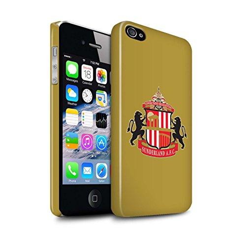 Offiziell Sunderland AFC Hülle / Glanz Snap-On Case für Apple iPhone 4/4S / Pack 6pcs Muster / SAFC Fußball Crest Kollektion Gold