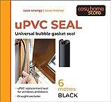 uPVC Universal-Ersatzdichtung für Kunststoff-Fenster und -Türen 6 m, schwarz
