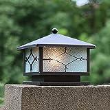 Quadratisches chinesisches im Freien Pfosten-Licht im Freien wasserdichte helle Hof-Zaun-Tor-Licht-Spalten-Lampen-europäisches Art-Garten-Licht