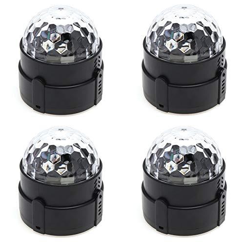 Vinmin LED-Bühnenlichter, Disco-Ball-Party-Lichter, Party-Lichter-Ton-aktivierte Disco-Lichter 7 Farben-Fernrotation-Wasser-Welligkeit,Plugin (Disco An Ball Decke Der Montiert)