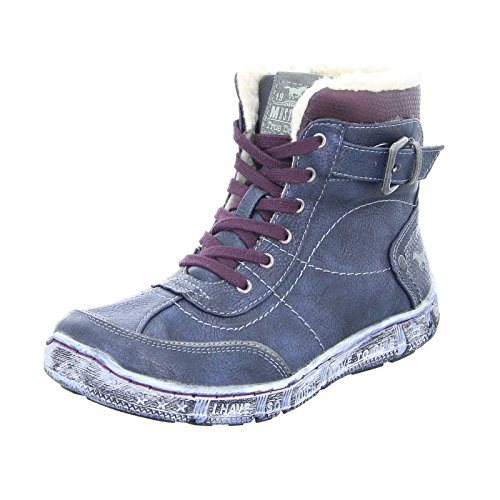 Mustang Damen Stiefeletten Gefüttert Blau, Schuhgröße:EUR 39