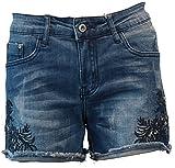 Onado Jeans Shorts Bermuda kurze Hose Hot Pants / Denim-Blue-Used / Stretch / S408 / 20170500021 (40 (L), Denim-Blue-Used)