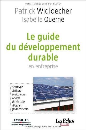 Le guide du développement durable en entreprise: Stratégie. Actions. Indicateurs. Leviers de réussite. Aides et financements. par Patrick WIDLOECHER