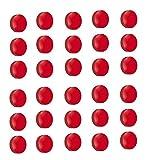 50x Magnete, Rot Ø 24mm, Haftmagnete für Whiteboard, Kühlschrankmagnet, Magnettafel, Magnetwand, Magnet Rund