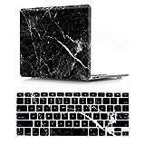 """SevenPanda Laptop Hülle für MacBook Pro 13"""" Tastatur Abdeckung Hart Plastikgehäuse A1278 with CD-ROM - Marmor Schwarz -"""