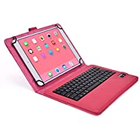Asus ZenPad 10 Custodia con Tastiera, COOPER INFINITE EXECUTIVE Custodia a libro Per Il Trasporto di Tablet con Tastiera Bluetooth QWERTY Wireless Removibile con supporto per Asus ZenPad 10 (Rosa)
