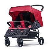 Passeggino gemello pieghevole da seduto, reclinabile, per bambini, portatile, per bambini C