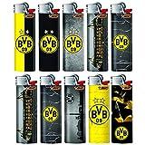 Bic Maxi Accendino J26 Limited/Special Edition + 1 X Scatola portasigarette – Standard Soft Flame accendini con Pietra di accensione/grattugia BVB Borussia Dortmund - 10 Feuerzeuge