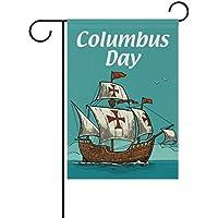 Mi Diario vela barco Colón día decorativos doble cara bandera de Jardín 12 ...