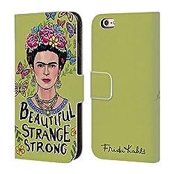 Head Case Designs Offizielle Frida Kahlo Schöne Frau Kunst Und Zitate Leder Brieftaschen Huelle kompatibel mit iPhone 6 / iPhone 6s