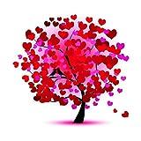BaZhaHei de Pintura, Árbol de la felicidad Bordado Pinturas Rhinestone Pegado DIY Pintura Diamante punto de Cruz de Diamante 5D diamond stick bordado diamante pintura taladro/árbol de la felicidad