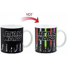 Star Wars sable de luz calor taza de cambio, Gran taza del regalo para los ventiladores de Star Wars