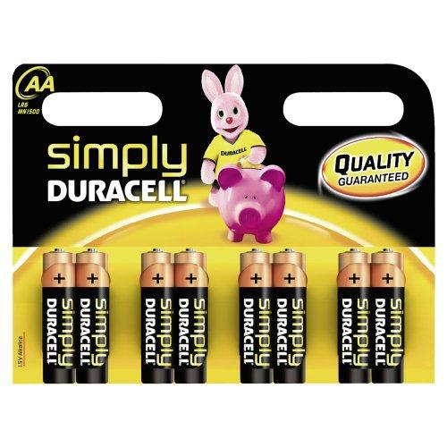 Duracell - Pile Alcaline - AA x 8 - Simply (LR6)
