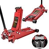 Anaelle Pandamoto Cricde Levage Capacité 2.5T pour Voitures, Caravanes, Fourgonnettes, Hauteur: 75-500mm, Poids: 31kg, Rouge