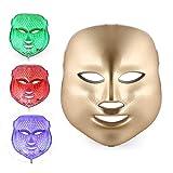 3 Farben Skincare Maske,Schönheit Haut Pflege Photon Therapie Maske,Falten Entfernung Anti Altern Licht,Gold