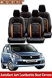 #9: Autofact Art Leather AF02 Car Seat Covers for Maruti Wagonr / Wagon R (2010 to 2018) (Black / Tan)
