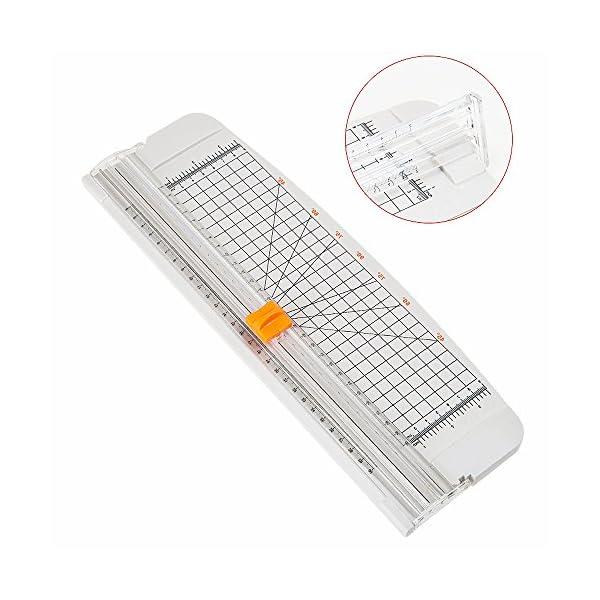 51c1MLi VTL. SS600  - Jielisi Taglierina nera 12 pollici per carta A4 con funzione di sicurezza automatica per protezione durante il taglio