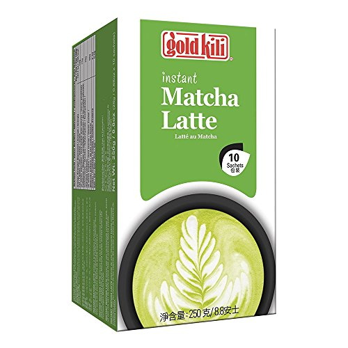 GOLD KILI Instant MATCHA Latte Getränk [10 x 25g] Matcha Latte 抹茶 (Gerste Tee)