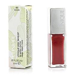 Clinique Pop Lacquer Lip Colour + Primer -  02 Lava Pop 6ml/0. 2oz