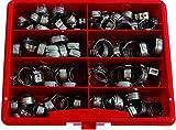 Kunzer PG 167 / 18500166 Oetiker Klemmensortiment in Kunststoff-Sortimentskasten, 100-teilig