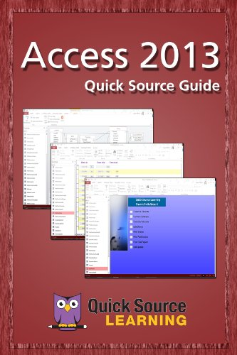 Access 2013 Quick Source Guide (English Edition)