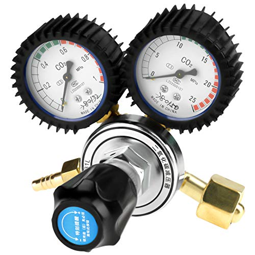 TOPINCN CO2 Pressure Regulator G5/8 Gas Bottle Regulator Carbon Dioxide  Beer Kegerator Keg Regulator Welding Pressure Reducer
