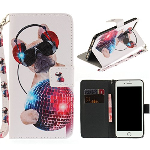 """MOONCASE iPhone 7 Plus Coque, [Colorful Painting] Anti-choc TPU Protection Housse Lanyard PU Cuir Portefeuille Case pour iPhone 7 Plus 5.5"""" Wind Chimes Fashion"""