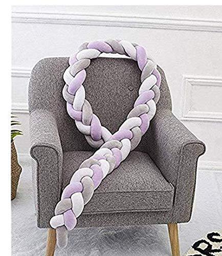 TO_GOO Weiches Bettwäsche-Set für Babybett, Kissen mit Einfachem Weave-Design für Kinderzimmer