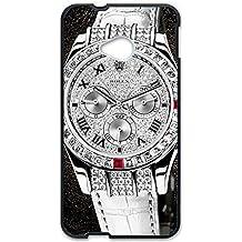 Estilo CALIENTE Ralph Lauren deportivos reloj personalizado plástico delgado personnalisée 3D funda L6M057 para Htc uno M7, compatible con HTC One, color multicolor
