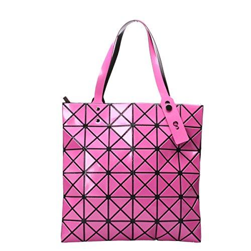Frauen Paket Geometrische Umhängetasche Handtasche RoseRed
