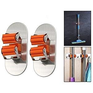 Itian® Escoba Soporte portaherramientas auta-Adhesivo, fijación sin perforar, de la fregona y Escoba (2pcs)