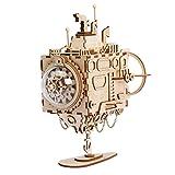 LOKR Laser-Schnitt-hölzernes Puzzlespiel-DIY Mechanismus-Spieluhr-hölzernes Modell Gebäude-Geburtstags- und Weihnachtsgeschenke für Kinder und Erwachsene (Submarine)