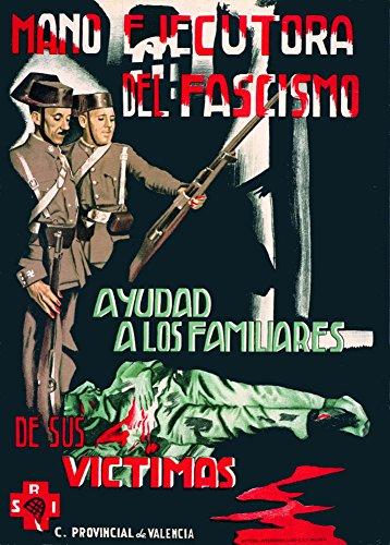 """World of Art Poster / Wandbild im Vintage-Stil, Abbild """"Spanischer Bürgerkrieg 1936-39"""", mit """"Die gewaltige Hand des Faschismus""""-Aufschrift, auf 250-g/qm-Papier, glänzend, Nachdruck, A3"""