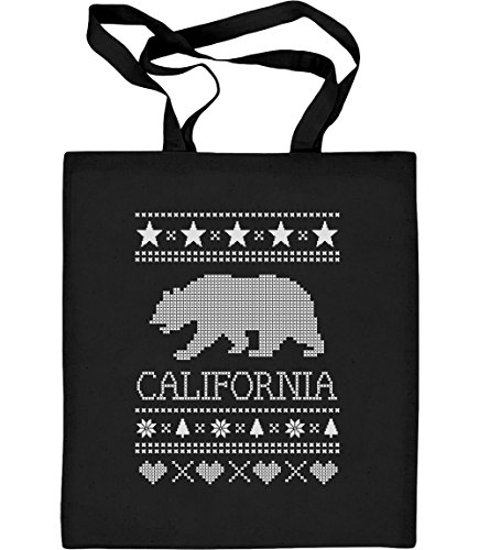 Bär Frauen T-shirt (Green Turtle T-Shirts California Republic Cali Bär Fan Weihnachtsgeschenk Jutebeutel Baumwolltasche One Size Schwarz)