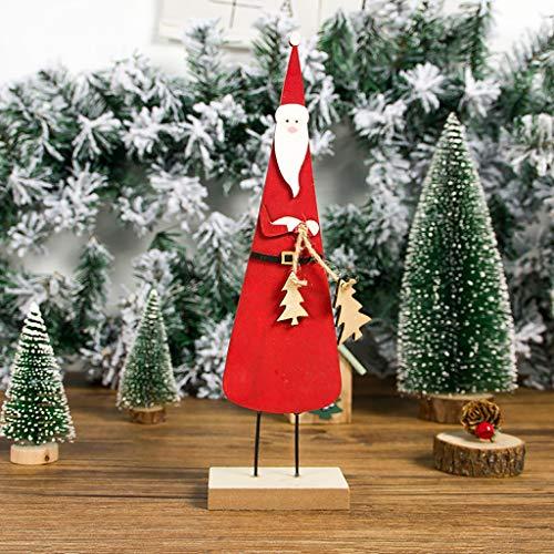 TianranRT Weihnachtsschmuck,Weihnachtsschmuck Dekorationen Für Das Haus In Lackiertem Holz Mit Weihnachten Stereoskope Nette Und Interessante Kreative Art,Rot -