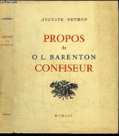 Propos de o.l. barenton, confiseur.