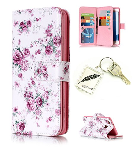 Preisvergleich Produktbild Silikonsoftshell PU Hülle für Huawei P9 Lite Tasche Schutz Hülle Case Cover Etui Strass Schutz schutzhülle Bumper Schale Silicone case+Exquisite key chain X1#AX (4)