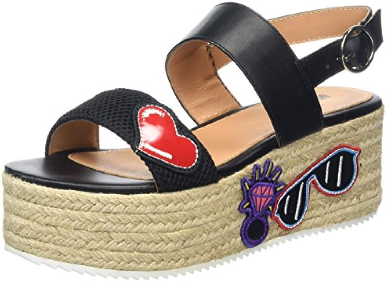 XIE Zapatos mujer Terciopelo Diamante imitación Fiesta y Noche Estilete Tacón Tobillo Correa Zapatillas Sandalias talla 35 a 42, EU39 BLACK-EU39