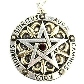 Ars-Bavaria Medaillon Amulett Pentagramm Collier Magie Mittelalter Wicca, Pentagram