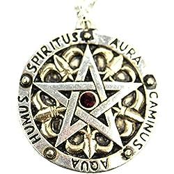 Ars-Bavaria Medaillon amuleto Pentagram collar Magic Medieval Wiccan Pentagram
