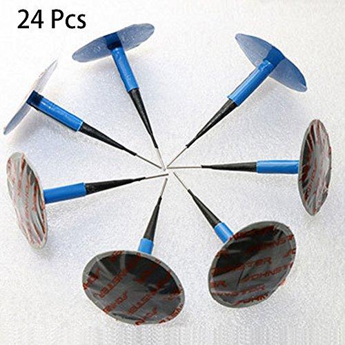 fsttm88 Reifen-Reparatur-Set mit Draht, 4 mm, für Reifen, geeignet für Reifen, geeignet für Reifen, geeignet für Reifen, geeignet für Reifen, 36 x 4 mm, Blau, 24 Stück -