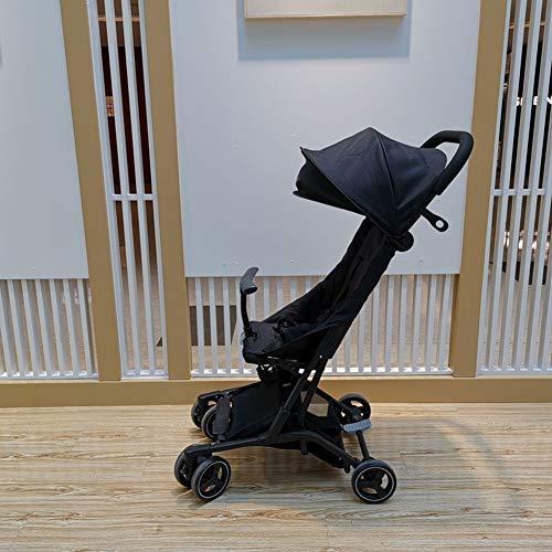 YUHT Kinderwagen Buggy, Kinderwagen - Reisesysteme - Leichte Sitzbuggys - Reise buggys - Mit Einkaufskorb und Sicherheitsgurt, Black