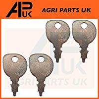 APUK 4 x Ignition Switch Keys Compatible with AYP Husqvarna Ride on Lawn Mower Garden Tractor
